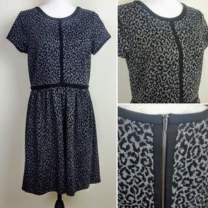 ANN TAYLOR LOFT Dress, Gray Cheetah Career, 10